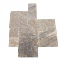 Travertine Andes Gray Paredon Pattern Floor and Wall Tile Kit (6 sq. ft / case)
