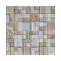 Royal Glaze 11.875 x 11.875 Glass/Metal Mosaic Wall Tile