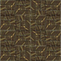 Metalz Bronze-1012 Mosiac Recycled Glass Mesh Mounted Tile - 3 in. x 3 in. Tile Sample