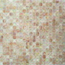 Breeze Silky Peach Glass Mosaic Wall Tile - 3 in. x 6 in. Tile Sample
