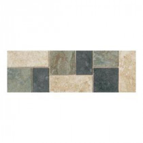 Continental Slate Multi-Colored 4 in. x 12 in. Porcelain Decorative Accent Floor and Wall Tile