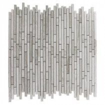 Windsor Random Wooden Beige 12 in. x 12 in. x 8 mm Marble Floor and Wall Tile