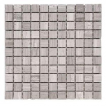 Haisa Marble Light 12 in. x 12 in. x 6.35 mm Marble Mesh-Mounted Mosaic Tile (10 sq. ft. / case)