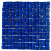 Latin Blue Ink Square 11-3/4 in. x 12 in. x 8 mm Meshless Glass Mosaic Tile