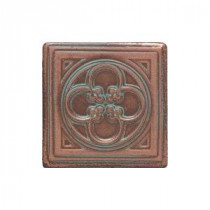 Castle Metals 2 in. x 2 in. Aged Copper Metal Insert Accent Tile