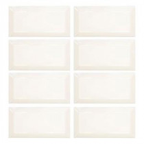 Royal Cream Beveled 3 in. x 6 in. Ceramic Wall Tile (1-Pack / 8 pcs-1 sq. ft.)