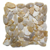 Golden Sapphire 12 in. x 12 in. Sliced Natural Pebble Stone Floor and Wall Tile