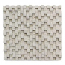 Cubist Dufy 12 in. x 12 in. x 22.2 mm Marble Mesh-Mounted Mosaic Wall Tile (5 sq. ft. / case)
