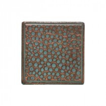 Castle Metals 2 in. x 2 in. Aged Copper Metal Insert B Accent Wall Tile