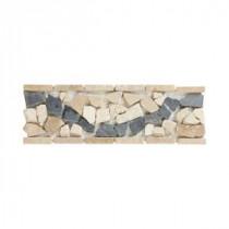Ravenna 4 in. x 12 in. Travertine Floor/Wall Accent Strip