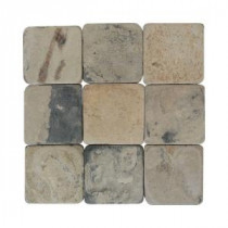 Travertine Copper 6 in. x 6 in. Slate Floor and Wall Tile (6 sq. ft. / case)