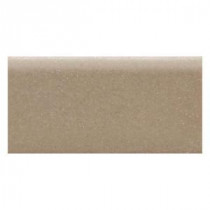 Rittenhouse Square Elemental Tan 3 in. x 6 in. Ceramic Surface Bullnose Wall Tile