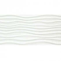 Surface Ripple White 12 in. x 24 in. Porcelain Wall Tile (15.36 sq. ft. / case)