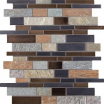 Cobrello Interlocking 12 in. x 12 in. x 8 mm Porcelain Stone Mesh-Mounted Mosaic Floor and Wall Tile
