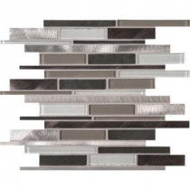 Cityscape Interlocking 12 in. x 12 in. x 8 mm Glass Metal Mesh-Mounted Mosaic Wall Tile (10 sq. ft. / case)
