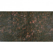Tan Brown 18 in. x 31 in. Polished Granite Floor and Wall Tile (7.75 sq. ft. / case)