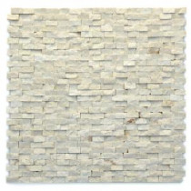 Modern Fauve 12 in. x 12 in. x 9.5 mm Marble Natural Stone Mesh-Mounted Mosaic Wall Tile (10 sq. ft. / case)