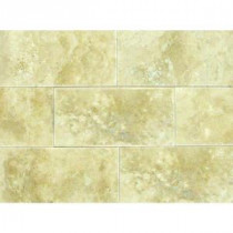 Ivory 3 in. x 6 in. Honed Travertine Floor and Wall Tile (1 sq. ft. / case)