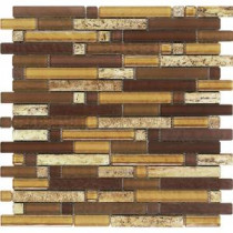 Varietals Aligote Stone And Glass Blend Mesh Mounted Floor and Wall Tile - 3 in. x 3 in. Tile Sample
