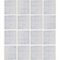 Oceanz Arctic White-1727 Crackled Glass 12 in. x 12 in. Mesh Mounted Tile (5 sq. ft. / case)