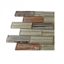 Gemini Mercury Blend Glass Mosaic Floor and Wall Tile - 3 in. x 6 in. x 8 mm Tile Sample