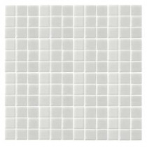 Monoz M-White-1400 Mosaic Recycled Glass 12 in. x 12 in. Mesh Mounted Floor & Wall Tile (5 sq. ft. / case)