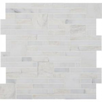 Greecian White Opus 12 in. x 12 in. x 10 mm Natural Marble Mesh-Mounted Mosaic Tile (10 sq. ft. / case)