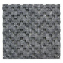 Cubist Gris 12 in. x 12 in. x 22.2 mm Marble Mesh-Mounted Mosaic Tile (5 sq. ft. / case)