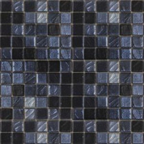 Metalz Galena-1013 Mosiac Recycled Glass Mesh Mounted Floor and Wall Tile - 3 in. x 3 in. Tile Sample