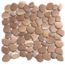 Metal Freeform Orbit 11 in. x 11 in. x 6.35 mm Metal Mesh-Mounted Mosaic Wall Tile (8.4 sq. ft. / case)