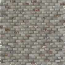Paradox Clay Mini Brick 11-1/4 in. x 12-1/4 in. x 8 mm Glass Mosaic Tile
