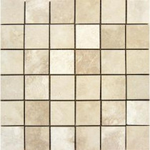 Ivory 12 in. x 12 in. x 10 mm Honed Travertine Mesh-Mounted Mosaic Tile
