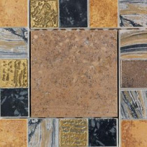 Terra Antica Bruno 6 in. x 6 in. Porcelain Decorative Insert/Corner Accent Floor and Wall Tile