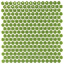 Bliss Edged Hexagon Polished Wheat Grass Ceramic Mosaic Floor and Wall Tile - 3 in. x 6 in. Tile Sample