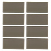 Fieldstone Gloss 3 in. x 6 in. Glass Wall Tile (8 pieces / pack)