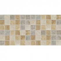 Sandalo Universal Blend 12 in. x 24 in. x 6 mm Glazed Ceramic Mosaic Floor and Wall Tile