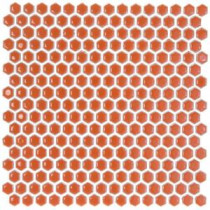 Bliss Edged Hexagon Polished Mango Ceramic Mosaic Floor and Wall Tile - 3 in. x 6 in. Tile Sample