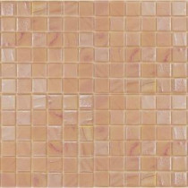 Gemstonez Rose Quartz-1302 Mosiac Recycled Glass Mesh Mounted Floor and Wall Tile - 3 in. x 3 in. Tile Sample