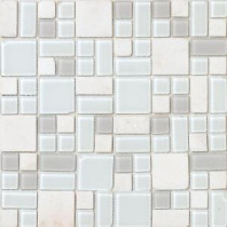 No Ka 'Oi Kapalua-Ka420 Stone And Glass Blend 12 in. x 12 in. Mesh Mounted Floor & Wall Tile (5 sq. ft. / case)