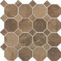 Aspen Lodge Cotto Mist 12 in. x 12 in. x 6 mm Porcelain Octagon Mosaic Floor and Wall Tile (7.74 sq. ft. / case)