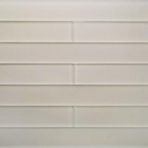 Contempo Vista Smokey Taupe 2 in. x 16 in. x 8 mm Frosted Subway Glass Wall Tile