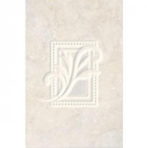 Illusione Ice 8 in. x 12 in. Ceramic Insert Wall Tile