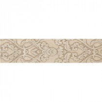 Fashion Accents Damask Light 2 in. x 10 in. Ceramic Decorative Accent Wall Tile