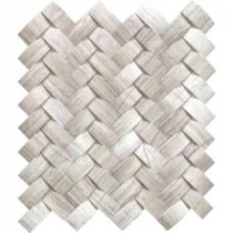 Mystic Cloud Arched Herringbone 12 in. x 12 in. x 10 mm Honed Marble Mesh-Mounted Mosaic Wall Tile (10 sq. ft. / case)