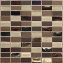 Coastal Keystones Treasure Island 12 in. x 12 in. x 6 mm Glass Mosaic Floor and Wall Tile