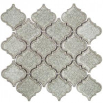 Roman Selection Iced Light Cream Lantern 9-3/4 in. x 10-1/2 in. x 8 mm Glass Mosaic Tile