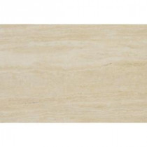 Travertino Romano 8 in. x 12 in. Glazed Porcelain Floor and Wall Tile (6.67 sq. ft. / case)