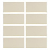 Almond Truffle Matte 3 in. x 6 in. Ceramic Wall Tile (8 pieces / pack)