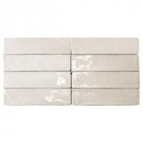 Catalina Vanilla Ceramic Mosaic Floor and Wall Tile - 3 in. x 6 in. Tile Sample