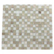 Champs-Elysee Blend 12 in. x 12 in. x 8 mm Glass Mosaic Floor and Wall Tile